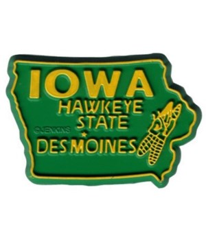 Iowa Bagged  Magnet 2D 50 State Green