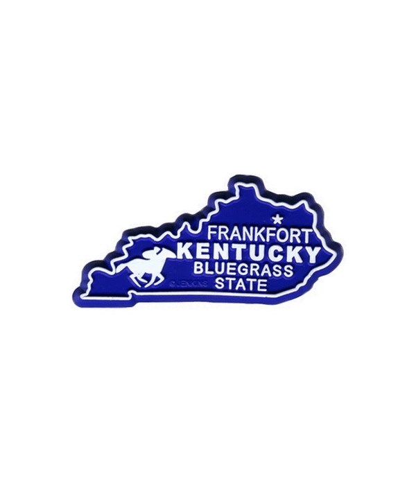KY Bagged Map Magnet