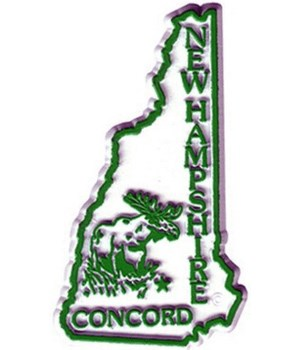 NH Bagged Map Magnet