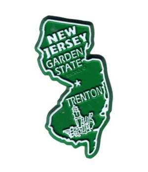 NJ Bagged Map Magnet