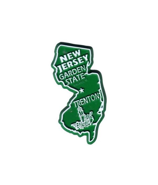 NJ Bagged Map Magnet