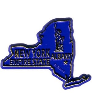 NY Bagged Map Magnet