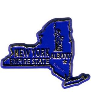 NY Bagged Map Magnet