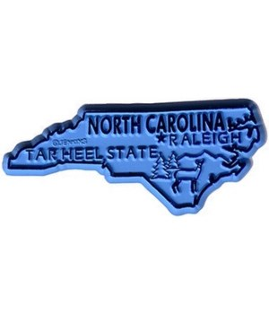 NC Bagged Map Magnet