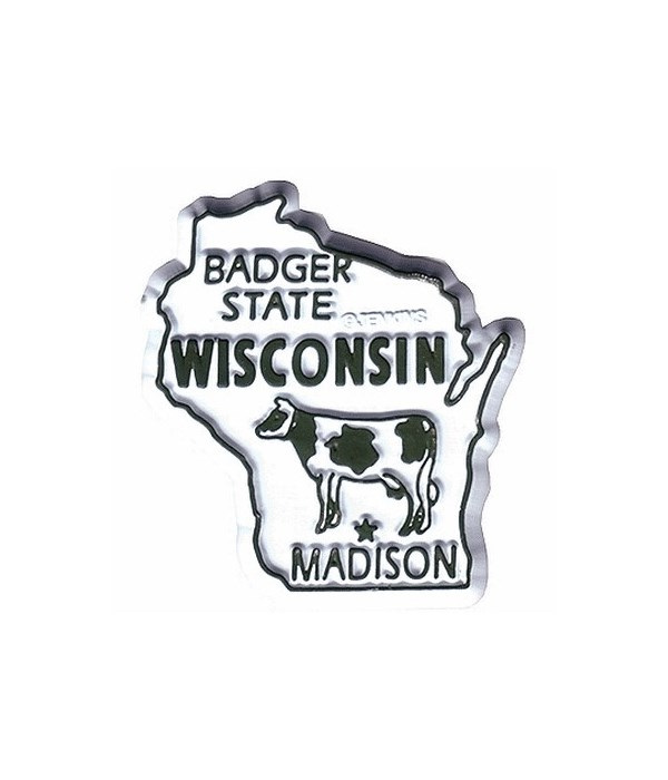 WI Bagged Map Magnet