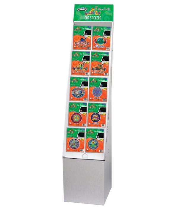 Peace Frog Stickers Floor Display