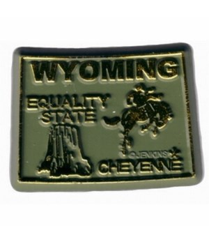 WY Bagged Map Magnet