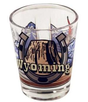 Wyoming Shotglass 3 View