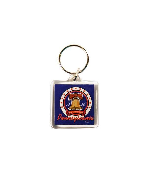 PA Keychain Lucite 3 View