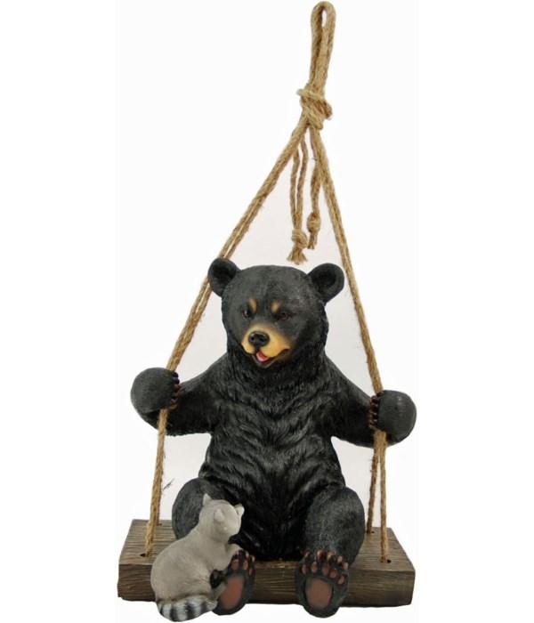 """Bear & raccoon swing 14.5"""""""