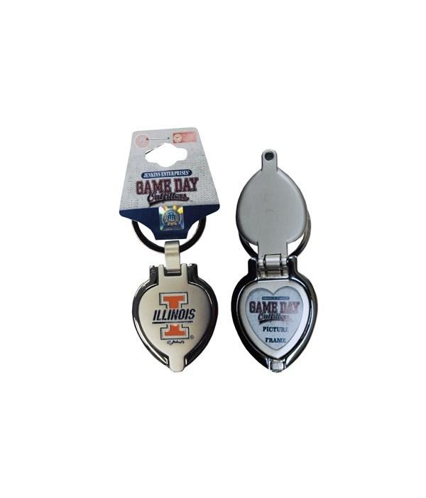 U-IL Keychain Metal Heart Locket