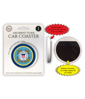 Coast Guard Car Coaster Magnet