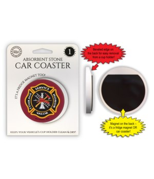 Fire Car Coaster Magnet