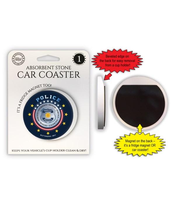 Police Car Coaster Magnet
