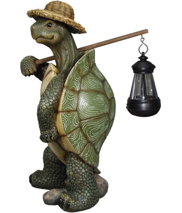 "17"" Turtle w/ Solar Lantern 1PC"
