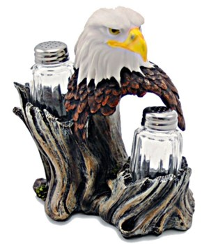 Eagle Salt & Pepper Set 6.75""