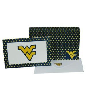 WV-U Stationery Note Card Set - 8 Sets