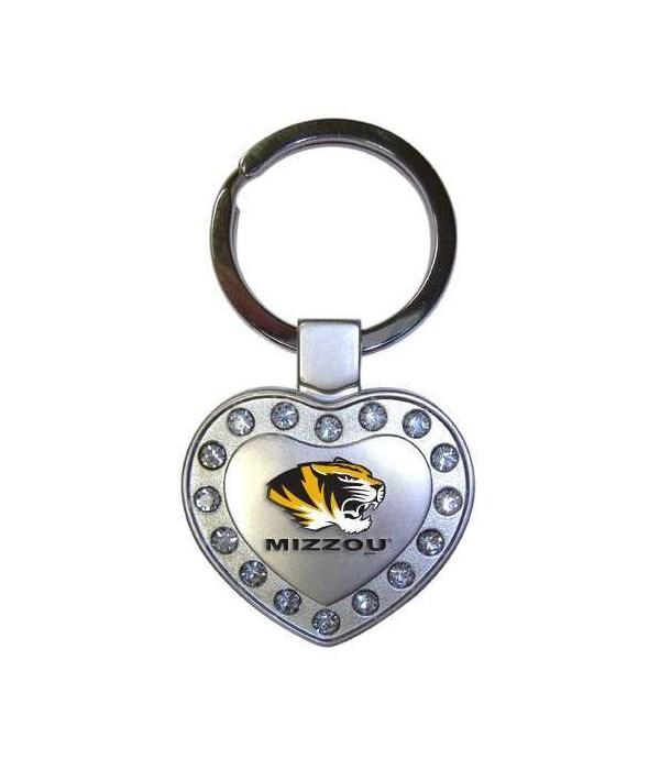 U-MO Metal Heart Keychain