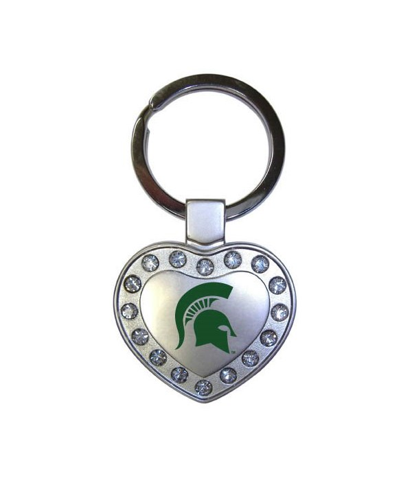 MSU Keychain Metal Heart