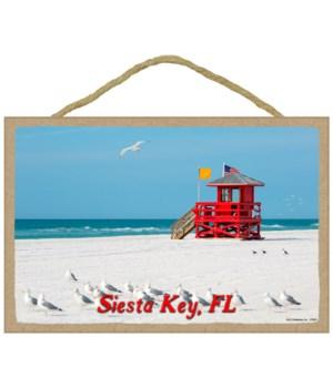 Siesta Key, FL - Lifeguard hut with seag