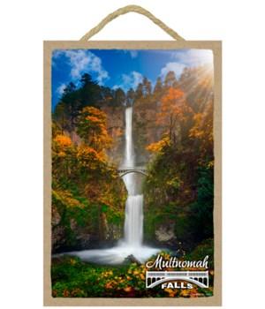 Multnomah Falls - w/autumn foliage7x10.5