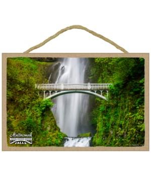 Multnomah Falls - Bridge closeup w/green