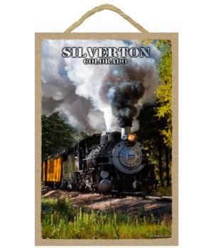 Silverton, Colorado - Locomotive in fore
