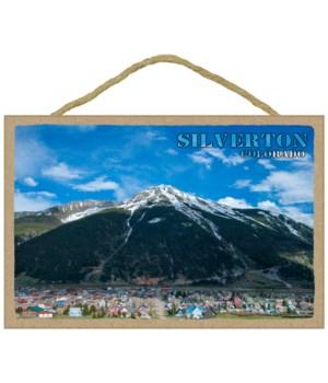 Silverton, Colorado - Mountain with city