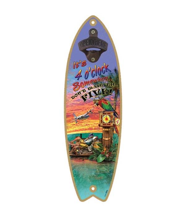4 o' clock - Surfboard bottle opener - M