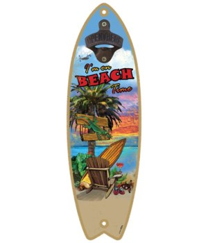 Beach Time - Surfboard bottle opener - M