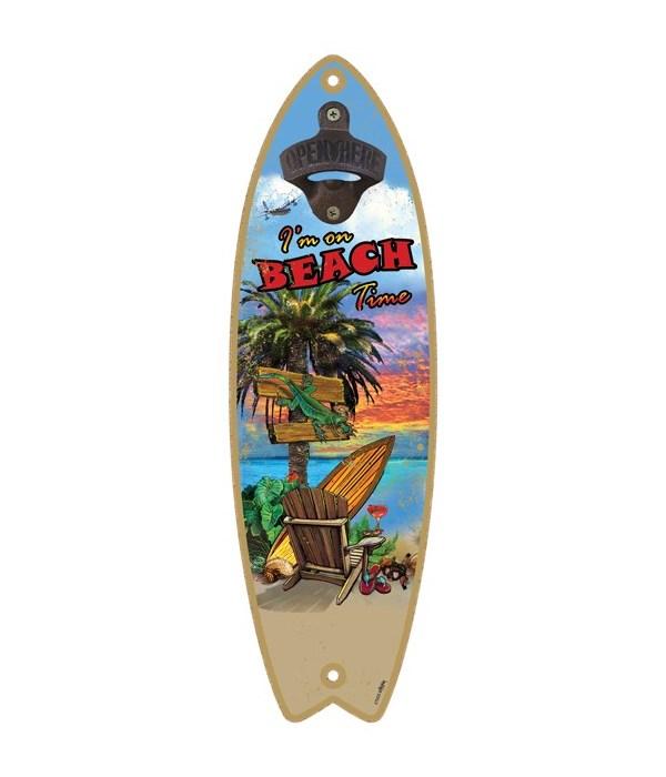 Beach Time - Surfboard bottle opener - M