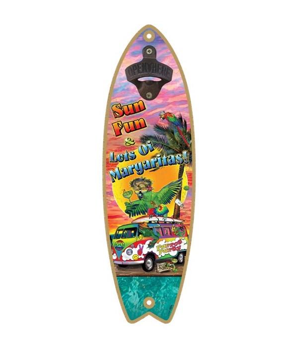 Sun fun - Surfboard bottle opener - Mich