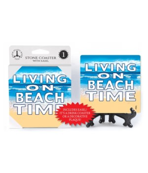 Living on Beach Time - coaster - Michael