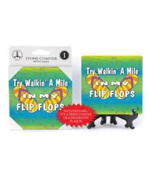 Try Walkin a mile - coaster - Michael Me