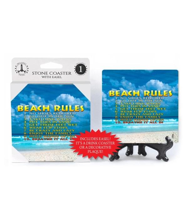 Beach Rules - coaster - Michael Messina