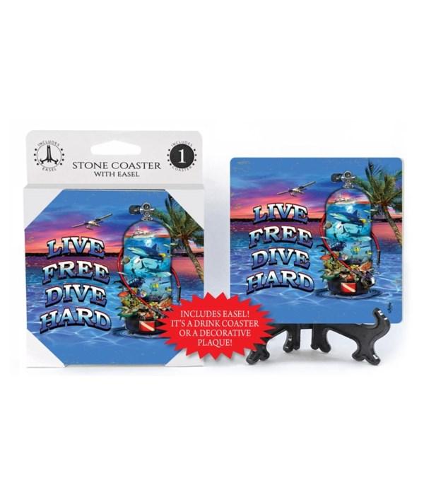 Live Free Dive Hard - coaster - Michael