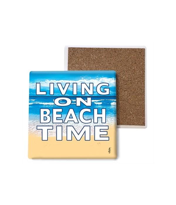 Living on Beach Time - coaster - Michael