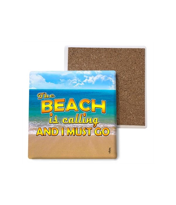 the beach is calling - coaster - Michael