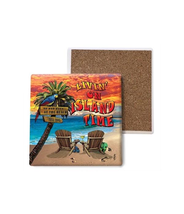 Island Time - coaster - Michael Messina