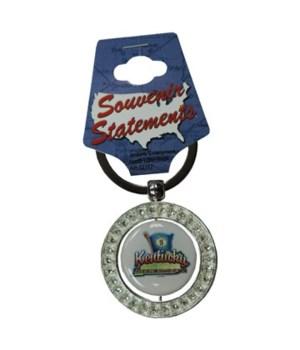 KY Keychain Spinner Rhinestones