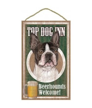 Top Dog Beerhound 10x16 Boston Terrier