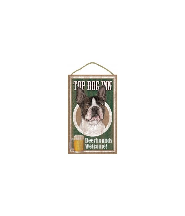 Top Dog Beerhound 10x16 Boston Terrier