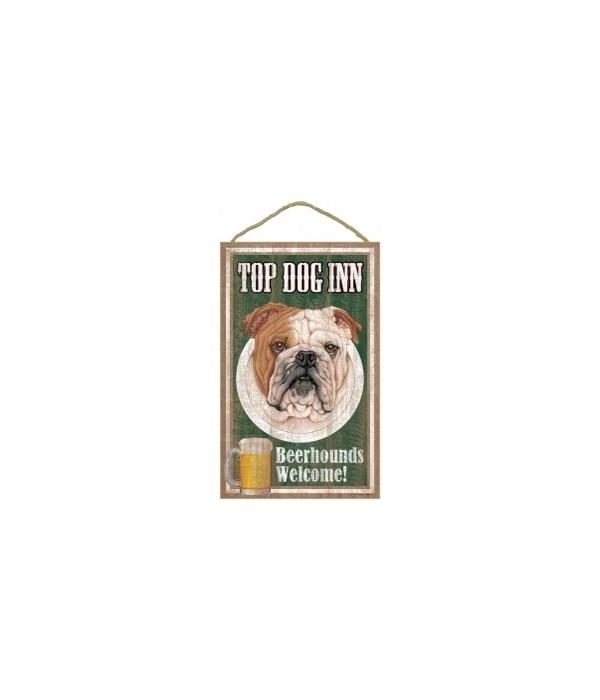 Top Dog Beerhound 10x16 Bulldog