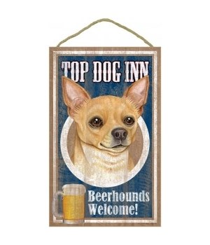 Top Dog Beerhound 10x16 Chihuahua (Tan)