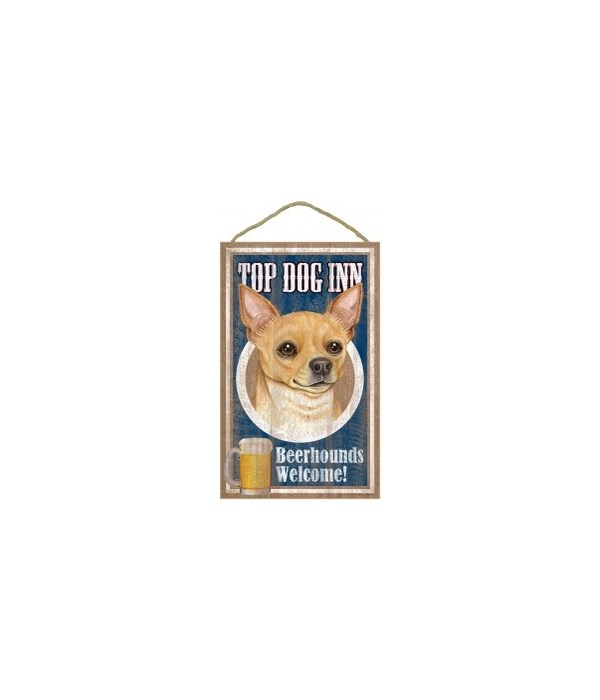 Top Dog Beerhound 10x16 Chihuahua (Tan)
