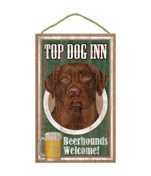 Top Dog Beerhound 10x16 Chocolate Lab