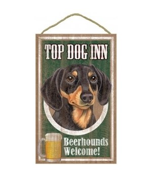 Top Dog Beerhound 10x16 Dachshund (Blac