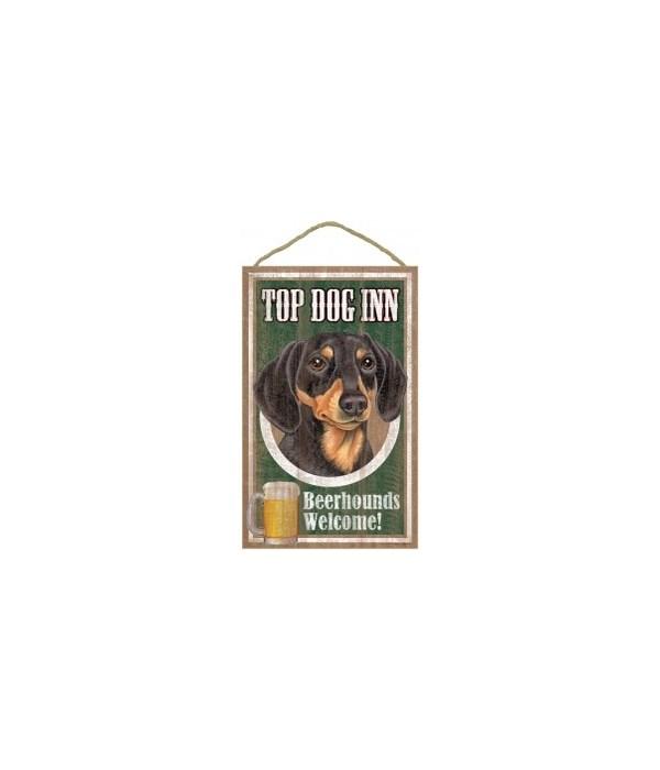 Top Dog Beerhound 10x16 Dachshund (Blac