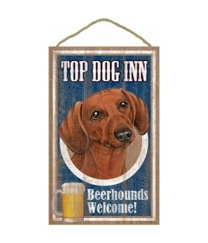 Top Dog Beerhound 10x16 Dachshund (Brow