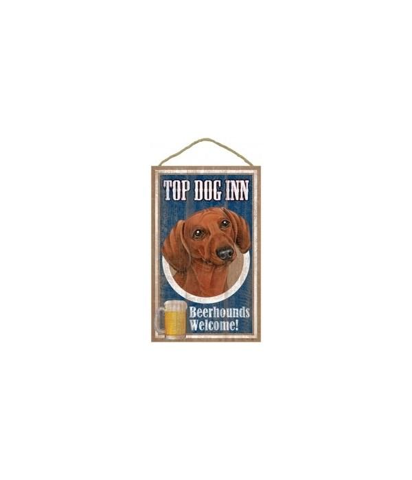 Top Dog Beerhound 10x16 Dachshund (Brow